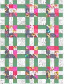 Quilt Inspiration: Free pattern day: Lattice and Woven quilts Pinwheel Quilt Pattern, Jelly Roll Quilt Patterns, Star Quilt Patterns, Fabric Patterns, Skirt Patterns, Blouse Patterns, Sewing Patterns, Quilting Tutorials, Quilting Projects