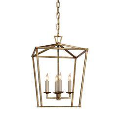 Small Darlana Lantern, Gilded Gold