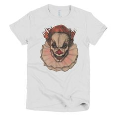 Halloween Scarey Clown By Robert Bowen Short Sleeve Women's T-Shirt