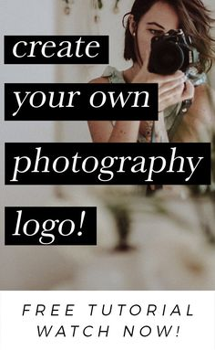 How To Create A Photography Logo In Photoshop!Learn how to create a photography logo signature in photoshop quick, easy & totally free! Photography Marketing, Photography Logos, Photoshop Photography, Photography Business, Photography Tutorials, Digital Photography, Photography Tips, Classic Photography, Free Photography Courses