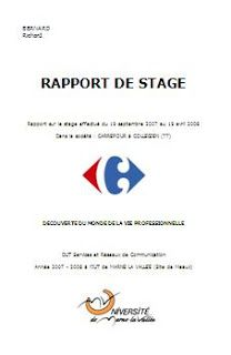 Télécharger Cet Rapport Sur Le Stage Dut Services Et Réseaux