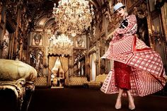 Social media star Cindy Kimberly graces the pages of Vanity Fair Spain's January 2017 issue. Photographed by Alex Bramall, the model wears glamorous looks ranging from embellished gowns to statement hats and glittering jewelry. Cindy poses in a luxe room filled with drapes and ornate rugs. Stylist Carla Aguilar selects the designs of Dolce & …