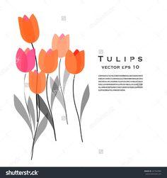 #tulips #flower #illustration #stock #vector