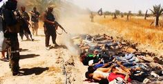 #andrewtheprophet ISIS Now Has A Dirty Bomb Destined For London. ISIS jihadists carrying out summary executions of captured Iraqi soldiers near Mosul earlier this year. More at http://andrewtheprophet.com/blog/2014/12/03/isis-now-has-a-dirty-bomb-destined-for-london/