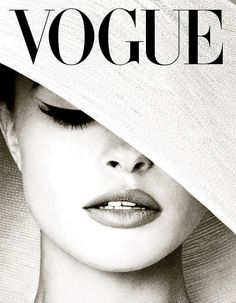 Jacques Henri Lartigue Poster featuring the mixed media White Hat Cover, Vogue by Thomas Pollart
