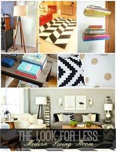 DIY Home Ideas | Neutral doesn't have to mean boring. Just check out this modern living room that's neutral, warm, and inviting. And you can get the look for less with these five DIY tutorials!