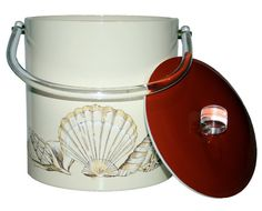 Seashell Ice Bucket w/ Handles by Natural Shapes, Mid Century Modern Design, Decorative Objects, Sea Shells, Mid-century Modern, Barware, Handle, Ice Buckets, Vintage