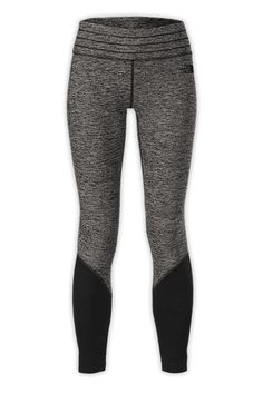 Get motivated to stay active in cold weather with midweight, hybrid leggings that feature lightweight panels at the calves for improved breathability. #giftsforher