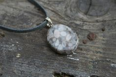 """perfect boho layering necklaces: a gemstone pendant hangs on approx 18"""" faux leather thong.    leave a note with the gemstone of your choice at checkout"""