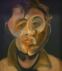 "This is a self portrait of Sir Francis Bacon. A quote from Francis Bacon""I'm greedy for life; and I'm greedy as an artist. I'm greedy for what I hope chance can give me far beyond anything I can calculate logically. Francis Bacon Self Portrait, Cubist Artists, Night Pictures, Strange Pictures, Famous Pictures, Damien Hirst, Art Moderne, Cubism, Pablo Picasso"