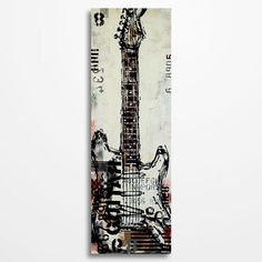 Guitar painting Guitar art Music painting Gift for musician, Music art, Original electric guitar painting by Magda Magier
