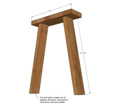 Free plans to DIY a simple desk inspired by Pottery Barn Teen desk. Diy Wooden Desk, Small Wooden Desk, Diy Wood Bench, Diy Desk, Craft Desk, Wood Desk, Trestle Table Plans, Trestle Desk, Ana White