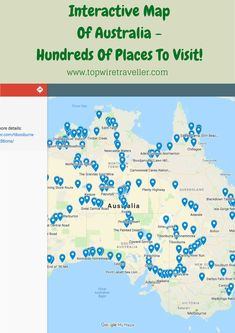 Interactive Map Of Australia Outback Australia, Australia Map, Western Australia, Visit Australia, South Wales, Camping, Parks, Channel, Victoria
