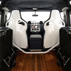 Interior: Land Rover Defender (Yacht Edition)...love the teakwood deck!