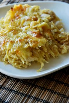 Spaghetti Squash Au Gratin with Caramelized Onions and Greek Yogurt