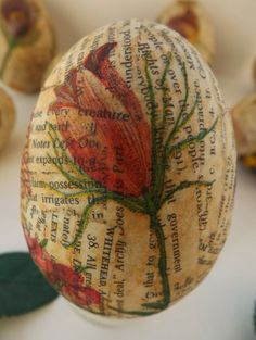 SewforSoul: Plastic Easter Eggs ~ Decoupage Tutorial