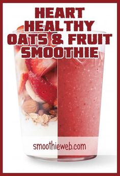 Heart Healthy Oats & Fruit Smoothie with Almonds