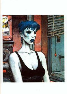 La Femme piège by Enki Bilal Fantasy Comics, Fantasy Art, Enki Bilal Bd, Illustrations, Illustration Art, Book Creator, Art Graphique, Pulp Art, Art Plastique