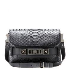 Proenza Schouler - Sac à bandoulière en peau de python et cuir PS11 Mini Classic