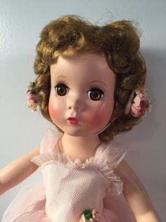 "MINT-Madame-Alexander-Rosamund-Bridesmaid-15""-Pink-Tulle-Maggie-Face-1950s"