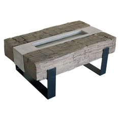 Concrete Three Beam Table from studio50
