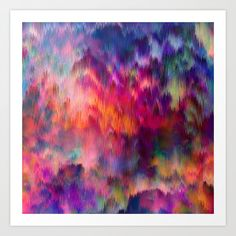 Sunset Storm Art Print by Amy Sia | Society6