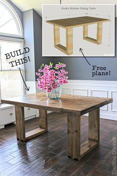 Diy Furniture Table, Modern Dining Table, Diy Furniture Projects, Furniture Makeover, Furniture Storage, Kitchen Tables, Barbie Furniture, Furniture Design, Garden Furniture