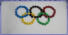 Candy topped Olympic Cake. Yum!