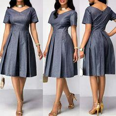 Short African Dresses, Ankara Short Gown Styles, Latest African Fashion Dresses, African Print Dresses, African Print Fashion, Short Dresses, Diana Diaz, Abaya Fashion, African Attire