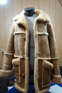 SHEARLING COAT VINTAGE RANCHER MARLBORO MAN PLUSH SHEEPSKIN OVERLAND SIZE 42 in Clothing, Shoes & Accessories, Men's Clothing, Coats & Jackets | eBay