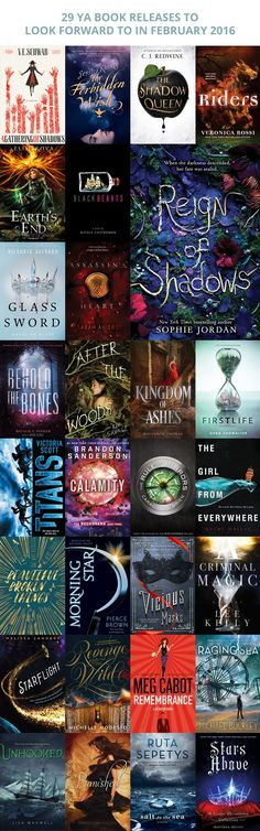 29 YA Book Releases to Look Forward to in February 2016 - What's coming out next month? Anything good? Sometimes book releases creep up behind me and it's not until everyone is tweeting about it, do I realize I forgot about the release date! Each month I'll be compiling a list of some of the books that are coming out that month :)
