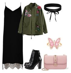 """1"" by shkolashopinga ❤ liked on Polyvore featuring Jeffrey Campbell, River Island, Valentino, Boohoo and Luna Skye"