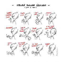 Italian Popular Gestures: if you can do all of them, you can speak Italian without talking at all! :D