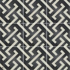 Black and white. the most classic color combination of all time! This traditional pattern is great for a bathroom or laundry room floor. Rodin, Porcelain Ceramics, Tile Patterns, Tiles, Flooring, Traditional, Black And White, Interior Design, Classic