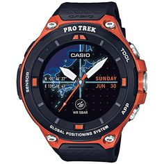 Amazon.com: Casio Men's 'PRO TREK' Quartz Resin Outdoor Smartwatch, Color:Black (Model: WSD-F20-BKAAU): Watches