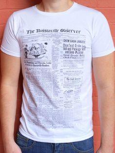 THE ORIGINAL SKIN  - Newspaper T-Shirt