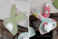 Cute bunny garland for Easter Decorations Easter Crafts, Holiday Crafts, Holiday Fun, Crafts For Kids, Easter Ideas, Festive, Diy Easter Decorations, Happy 1st Birthdays, Party Stores