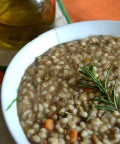 Minestra di orzo e lenticchie, primo piatto