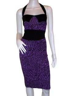 Purple Rockabilly Leopard Dress [DR-087] - $28.98 : Pin Up Rockabilly Clothing | 50s Vintage Clothes | Pinup Clothing Shop