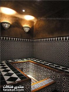 Bath Handmade tiles can be colour coordinated and customized re. shape, texture, pattern, etc. by ceramic design studios Arabic & Moroccan Baths