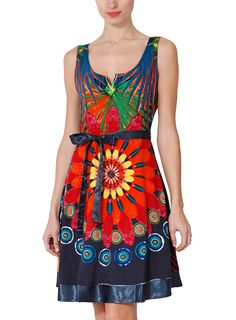 Desigual Logan Dress - I just bought it. Bohemian Style, Boho, Casual Dresses, Summer Dresses, Yellow And Brown, Tie Dye Skirt, New Fashion, Beautiful Dresses, Couture