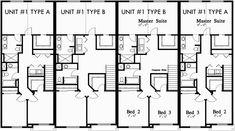 1000 images about triplex and fourplex house plans on for 8 plex floor plans