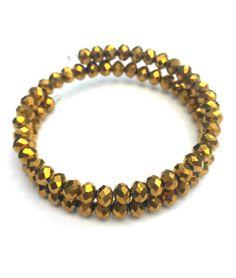 Gold faceted bracelet gold bead bracelet by LozziGoodsJewellery