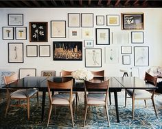 """I'm trying to convince my husband to create an """"art wall"""" on the huge wall in the front room... art wall 2"""