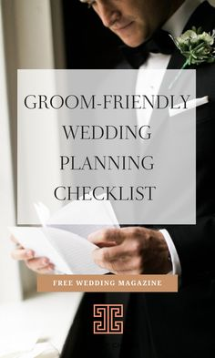 We hear ya, husbands! You're excited to get married, but have no clue how to help plan the wedding. Check out this groom-friendly wedding planning checklist for some to-dos you can offer to handle as a starting point! Dallas Wedding, Nashville Wedding, Atlanta Wedding, Wedding Planning Timeline, Wedding Planner, Wedding Checklists, Plan Your Wedding, Wedding Tips, Wedding Blog