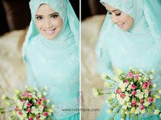 veil nikah turquoise - Google Search