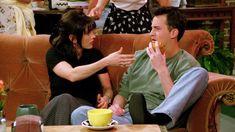 Courteney Cox and Matthew Perry. FRIENDS Monica Geller, Chandler Bing, Joey Tribbiani, Phoebe Buffay, Rachel Green, Ross Geller