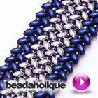 Best Seed Bead Jewelry 2017 Videos: How to Stitch Herringbone with Two Hole Beads Beaded Bracelet Patterns, Jewelry Patterns, Seed Bead Patterns, Beading Patterns, Beaded Bracelets, Seed Bead Jewelry, Bead Jewellery, Beaded Jewelry, Seed Bead Projects