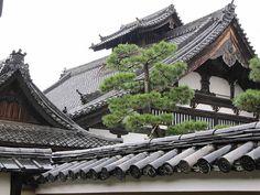 Kyoto roofs by dwatsonartist, via Flickr