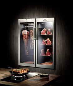 New meat restaurant interior kitchens ideas Meat Restaurant, Restaurant Design, Carnicerias Ideas, Bar Ideas, Kitchen Interior, Kitchen Design, Viking Food, Dry Aged Steak, Meat Store